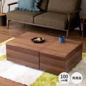 テーブル 収納 引き出し モダン シンプル サーカス センターテーブル 100 (IS)|denzo
