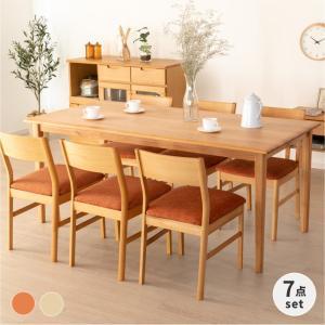 ダイニングセット 7点 木製 北欧 エリス 165 7 セット (IS)|denzo