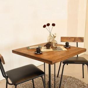 テーブルセット カフェテーブル チェア(2脚) 古木風 パイン 無垢材 オイル仕上げ 木目が美しい レトロ Kelt ケルト (TO)|denzo