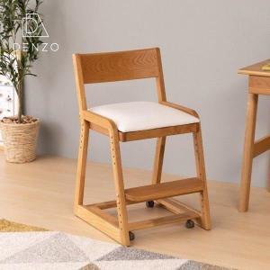 キッズチェア 学習椅子 完成品 ココロ デスク チェア オーク材 (IS)|denzo