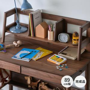 上棚 デスク 収納 木製 コンパクト 学習机 コーリナ (IS)|denzo