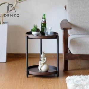 ゲリラセール!サイドテーブル ナイトテーブル ラウンドテーブル 木製 モダン スチール シンボル (IS) denzo