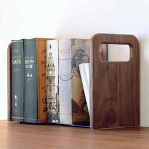 ブックスタンド 本立て 木製 おしゃれ  ブックエンドセット 左右1組 コロ ブックエンド 16 ISSEIKI|denzo