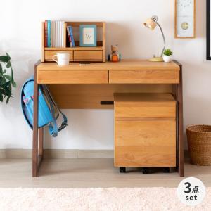 5のつく日!学習デスクセット デスク ワゴン ブックスタンド 北欧 シンプル ステップ 3点セット (IS)|denzo