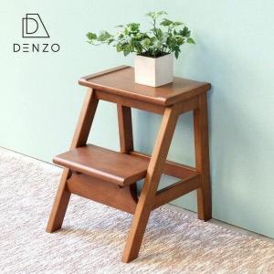 高額クーポンも!踏み台 脚立 ステップスツール ステップ台 2段 子供 木製 完成品 アイリス (IS)|denzo