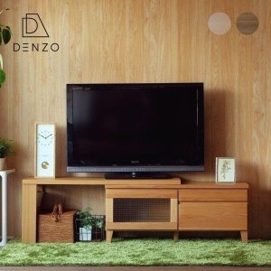 SALE!最大31%お得!テレビ台 コーナータイプ 伸縮 フロック テレビボード 100cm幅 + L-ラック 2点セット (IS)|denzo