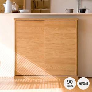 本日限定!ポイント最大41倍!キッチンカウンター 木製 引き戸 木製天板 送料無料 コレント カウンター 幅90 奥行30 高さ85 (IS)|denzo