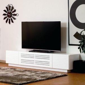 テレビボード テレビ台 リビングボード 幅180 大型TV MDF エナメル塗装 AV機器収納 クリオ テレビボード 180 (ホワイト)+(IS) denzo
