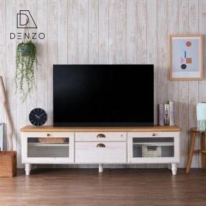 テレビ台 おしゃれ カントリー 150 無垢 木製 収納 パイン マーガレット ISSEIKI|denzo