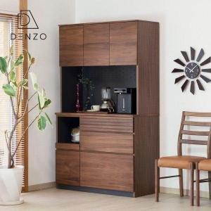 食器棚 レンジ台 高さ180cm 完成品 スタイル 幅105cm キッチンボード|denzo