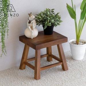 スツール 木製 椅子 イス おしゃれ スクエア ナチュラル ラステ ISSEIKI|denzo