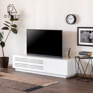 テレビボード TV台 リビングボード 幅150 おしゃれ MDF エナメル塗装 AV機器 収納 クリオ テレビボード 150 (ホワイト)+(IS) denzo