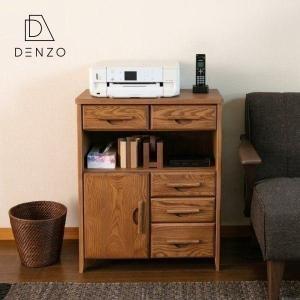 ファックス台 FAX台 電話台 チェスト シェルフ 幅63 完成品 ヘンリー ISSEIKI|denzo