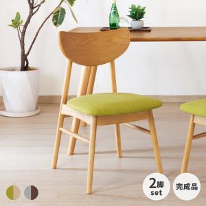椅子 ラバー無垢材 2脚 北欧 リビング ダイニング シンプル 食卓 クローン ダイニングチェア2脚セット (IS)|denzo