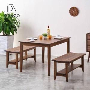 ダイニングセット 3点 テーブル ベンチ 2脚 食卓 アカシア  おしゃれ【セット】リティオ ダイニング 3点(テーブル120+ベンチx2) (IS)|denzo