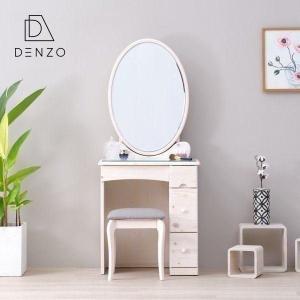ドレッサー 鏡台 ホワイト カントリー ファンシー ルル 65幅 ドレッサー 1面鏡 ISSEIKI|denzo