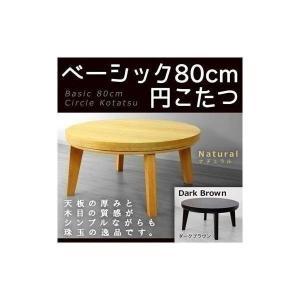 高額クーポンも!一人用こたつ 本体 80cm ベーシック円こたつ (DEFJ) denzo