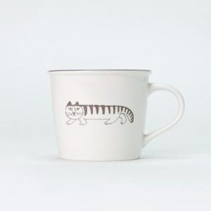 北欧 食器 マグカップ 陶器 益子焼 動物 マイキー 猫 スウェーデン プレゼント Lisa Larson SKETCH MIKEY MUG CUP|denzo