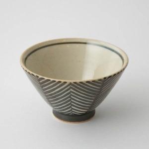 茶碗 食器 陶器 ヘリンボーン 食卓 ダイニング テキスタイル 和食器 波佐見焼 aiyu ORIME Pヘリンボーン 茶碗 (ブラウン)|denzo