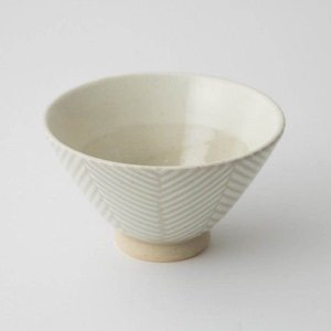 茶碗 食器 陶器 ヘリンボーン 食卓 ダイニング テキスタイル 和食器 波佐見焼 aiyu ORIME Pヘリンボーン 茶碗 (ホワイト)|denzo