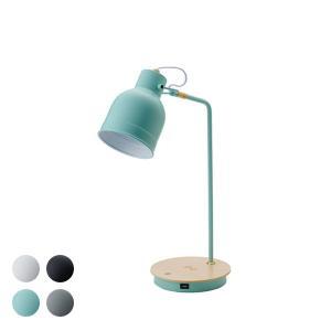 テーブルランプ おしゃれ デスクライト ワイヤレス充電 スマホ充電 USB 4色 LED Table Lamp L|denzo