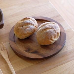 木製食器 トレイ アカシア材 おしゃれ モダン アカシア食器 09 プレート大 丸 (ミディアムブラウン) (IS) denzo