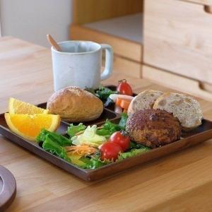 木製食器 トレイ ワンプレート カフェ飯 おしゃれ モダン シンプル 北欧 アカシア食器 07 フラットトレイ 角 250 (ミディアムブラウン)(IS) denzo