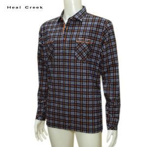 ヒールクリーク Heal Creek メンズ 秋冬 チェック柄 シャツ サイズ52(LL)|depot-044