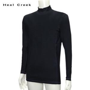 訳あり ヒールクリーク Heal Creek メンズ 春夏 UVカット 接触冷感 インナーシャツ サイズ50(L)|depot-044
