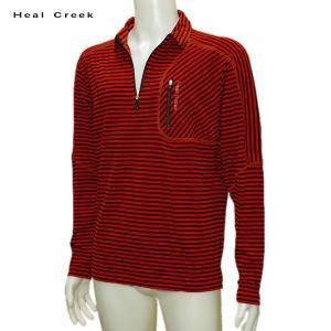 ヒールクリーク Heal Creek メンズ 秋冬 吸湿発熱 ジップアップ シャツ サイズ52(LL)|depot-044