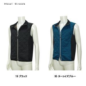 ヒールクリーク Heal Creek メンズ 撥水 ストレッチ フルジップ ベスト サイズ48(M)|depot-044