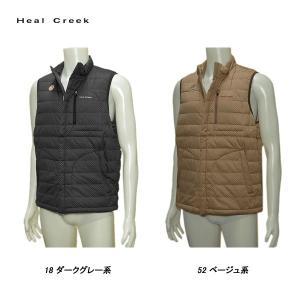 ヒールクリーク Heal Creek メンズ 秋冬 撥水 防風 フルジップ ベスト|depot-044