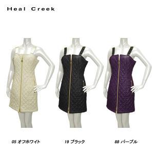 ヒールクリーク Heal Creek 秋冬 レディース ストレッチ 蓄熱保温 フェイクレザー ワンピース|depot-044