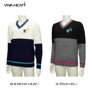 ビバハート VIVA HEART メンズ 秋冬 ゴルフ Vネック セーター depot-044