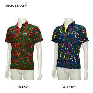 ビバハート VIVA HEART メンズ 春夏 UVカット 吸水速乾 半袖ポロシャツ サイズ48(M)|depot-044