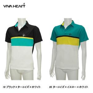 ビバハート VIVA HEART メンズ 春夏 ゴルフ UVカット 半袖ポロシャツ|depot-044
