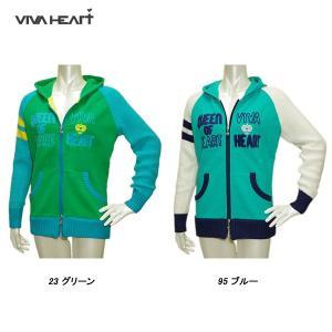 ビバハート VIVA HEART レディース 秋冬 フード付 フルジップ ジャケット サイズ40|depot-044