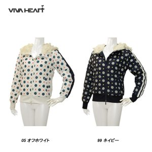 ビバハート VIVA HEART レディース 秋冬 吸水速乾  ジップアップ プルオーバー サイズ42|depot-044