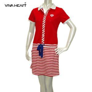 ビバハート VIVA HEART レディース 春夏 UVカット 吸水速乾 ワンピース サイズ40|depot-044