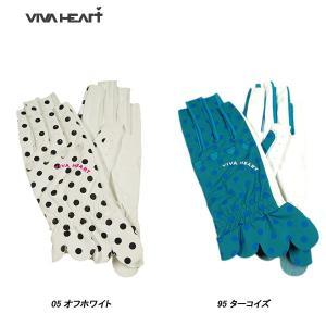 ビバハート VIVA HEART レディース ゴルフ 指先カット 両手グローブ サイズ38(18〜1...
