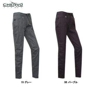 シェルボ CHERVO レディース ストレッチ ストライプ柄 パンツ|depot-044