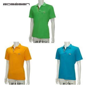 ロサーセン Rosasen メンズ 春夏 携帯袋付き 半袖 ポロシャツ|depot-044