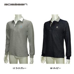 ロサーセン Rosasen メンズ 春夏秋 長袖 カノコ ポロシャツ|depot-044