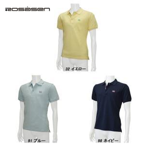 ロサーセン Rosasen メンズ 春夏 半袖 カラーネップ ポロシャツ|depot-044