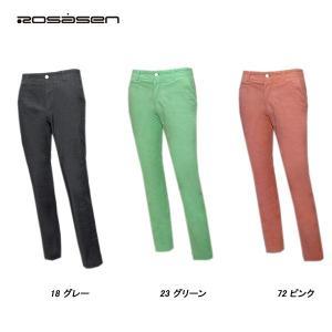 ロサーセン Rosasen メンズ ゴルフ シャンブレーリネンストレッチ パンツ|depot-044