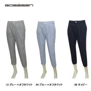 ロサーセン Rosasen メンズ 春夏 吸水速乾 ストレッチ ヒッコリーストライプ パンツ|depot-044