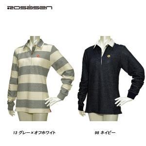 ロサーセン Rosasen レディース 春夏秋 長袖 カノコ ポロシャツ|depot-044