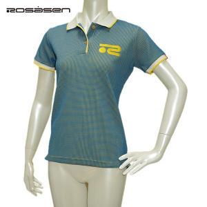 ロサーセン Rosasen レディース 春夏 吸水速乾 半袖 ワッフル ポロシャツ|depot-044