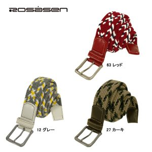 ロサーセン Rosasen メンズ メッシュ ゴム ベルト|depot-044