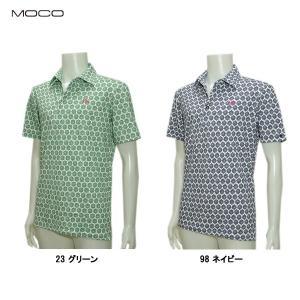 モコ MOCO メンズ 春夏 ビスコテックス ストレッチカノコ 半袖シャツ|depot-044